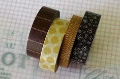 Japanese Masking Tape Pretty Brown Polka Dots by PrettyTape #creative #tape #pattern #washi #pretty #colors