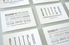 FFFFOUND! | Stitch Design Co. Identity | design work life #card #letterpress #business #typography