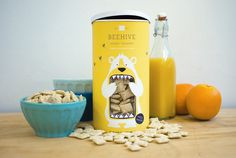 Beehive Honey Squares #packaging #food