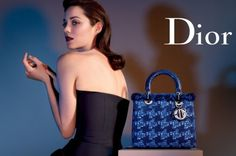 Marion Cotillard by Jean-Baptiste Mondino for Dior's Lady Dior Handbag line. #fashion #photography