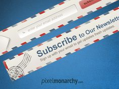 Newsletter envelope signup form #cta #web #newsletter