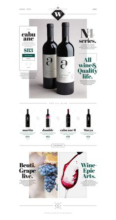 the Wine #white #site #design #wine #black #simple #minimal #art