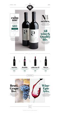 the Wine #white #site #design #wine #black #simple #minimal #art #web