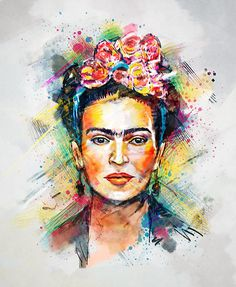 """Frida Kahlo"" Posters by tracieandrews #illustration #print"