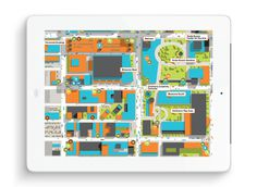 SF map design #illustration #ipad #wayfinding #graphic #signage #title #tablet #presentation