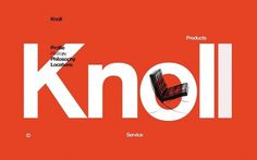 NB: Knoll Communications #simplicity #design #graphic #knoll #typography