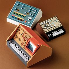Prototypes #miniatures #synth #craft #art #paper