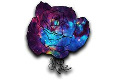 A rose with a galaxy print.