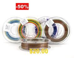 Stronghero3D #PLA #3D #Printer #Filament #Multicolor #pack #bundle #1.75mm #200g_5rolls #for #Anet #CR10 #Ender3