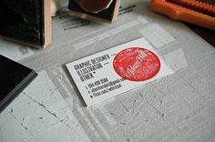 Business Card - Part 2 | Flickr - Photo Sharing! #stamp #rubber #business #card #identity