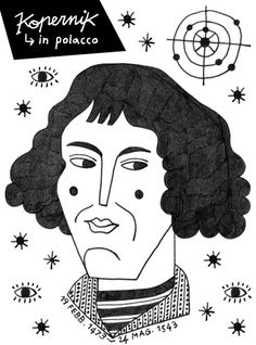 Niccolò Copernico #illustration #drawing #charles darwin #science #portrait #astronomy