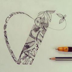 V - Illustrated type
