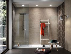 New Line Floor and Wall Tiles Design by Diego Grandi - #bath, #interior, #decor, home, bathroom