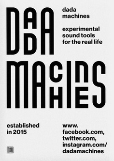 "printdesign: ""Corporate identity for ""dada machines"", a start up developing electronically control­able mechanical music machines. Design by Moritz Fuhrmann. """
