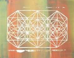 Dan Bina, Gilt Space Frame #facets #abstract #lines #bina #dan #painting #art #spaceframe