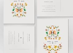 Design Work Life » Lisa Hedge: Sarah & Scott Wedding Annoucement #typography #simple #invitation #floral #save the date