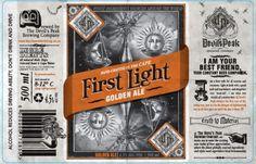 Devil's Peak Brewing Company #beer #bottle #label #packaging