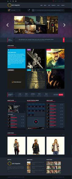 website, dark, concept, layout, red, blue #red #website #concept #blue #layout #dark