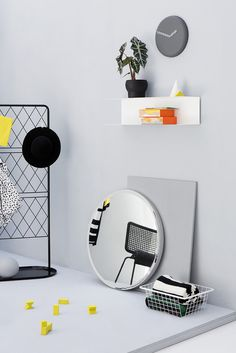 IKEA studio, graphic minimalistic shapes in home furnishing