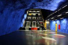 Stockholm Metro   Fubiz™ #landscape #subway #photography #architecture #stockholm #metro