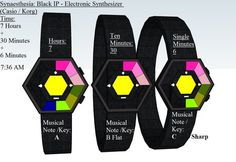 Synaesthesia LED Binary Sequential Watch