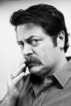 Nick Offerman for Movember #movember #portrait #moustache