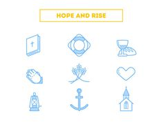 Hope and Rise : Christianity Related Icons