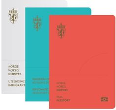 The design for the covers of the new passports is bold and striking. #nordic #passport #neue #abstract