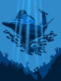 The Underwater Fantasy #design #graphic #illustration #nature #animals