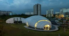 The Pod (Kuala Lumpur, Malaysia), The POD futuristic landmark design is reflective of Mother Nature's water droplets with a form that demo #creative #interesting #unique #building #architecture