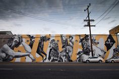 woodkid and cyrcle collaborate on los angeles mural 03 #woodkid #cyrcle #mural #and