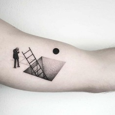 Small Dotwork tattoo on arm