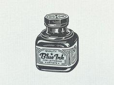 Blue ink ...