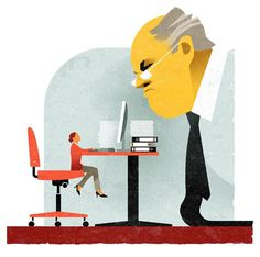 Illustration #illustration #character #face #human #office #texture