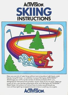 Atari - Skiing | Flickr - Photo Sharing! #video #booklet #games #manual