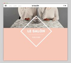 "Le SALÃ""N on Behance #web"