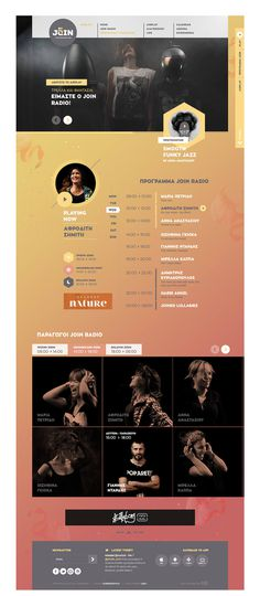 Join Radio by Kommigraphics  #web #design #layout #parallax #animation #floating #elements #pastel #radio