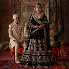 Black Bridal Lehenga