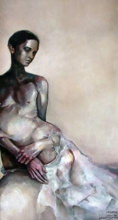 "Saatchi Online Artist: Maria Teresa Crawford Cabral; Oil, 2012, Painting ""Under the Pupa"""