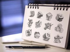 MacOS App Icon Sketches #drawings #dribbble #icon #ramotion #design #app #sketches #pencil #paper #mac