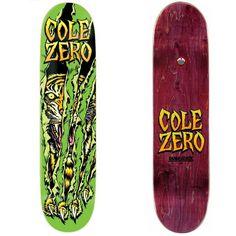 Google Image Result for http://shop.wreckless.ie/images/skateproducts/ZeroColeSurvivalDura Slick7.6251.jpg #chris #zero #claw #skateboard #tiger #cole