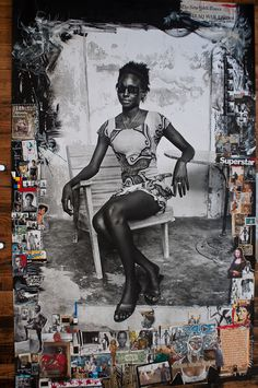 COLLAGE, Delphine Diaw Diallo #peter #beard #collage