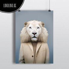 #animals #clothe #fashion #wild #lion #poster