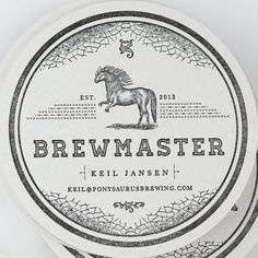 New Logo and Packaging for Ponysaurus by Baldwin& #monochrome #print #design #beermat