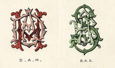 Type Thursday: Wilkinson, Heywood and Clark Ltd Monograms   Sub/Conscious Meanderings #monogram