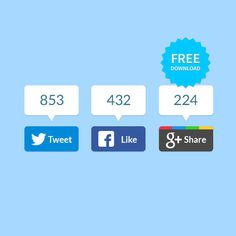 Freebie Flat Share Buttons #flat #share #free #badges #download