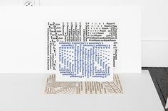 Chaumont Bookroom, STTADA atelier #typography #paper