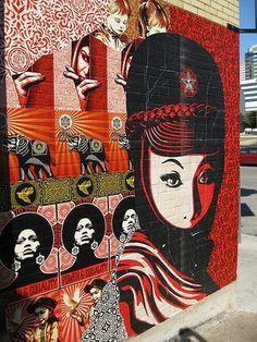 Shepard Fairey hits up Austin for SXSW Festival   Arrested Motion #fairey #illustration #art #street #shepard