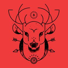 Dribbble - screen_shot_2012-05-16_at_12.06.00_pm.png by Ryan Clark #deer #lines #red #ryan #ohio #wmc #clark