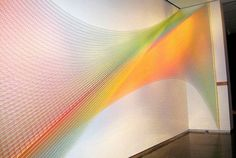 Textile art installation in interior